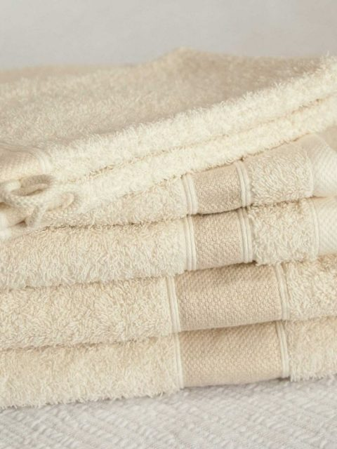linen towel cream